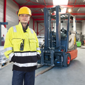 Forklift operator